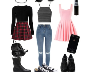 clothes, goth, and fashion image