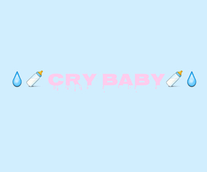 blue, cry baby, and pastel blue image