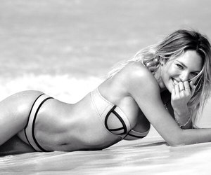beach, candice swanepoel, and triangl image
