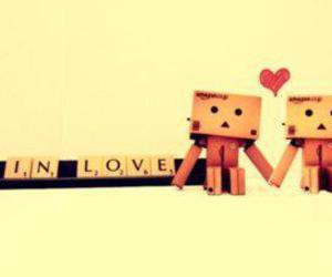 danbo, couple, and in love image
