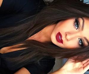 hair, lips, and beautiful image