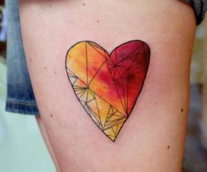 tattoo, heart, and heart tattoo image