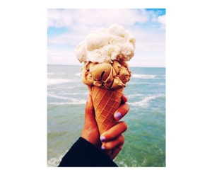 beach, ice cream, and summer image