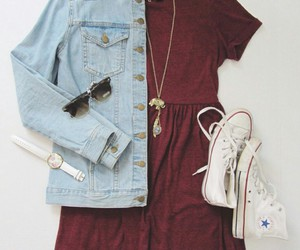 converse, dress, and outfit image