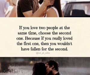 quote, the vampire diaries, and delena image