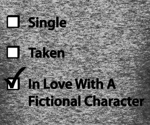 love, fictional characters, and single image