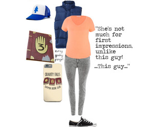 disney, dipper pines, and geek fashion image