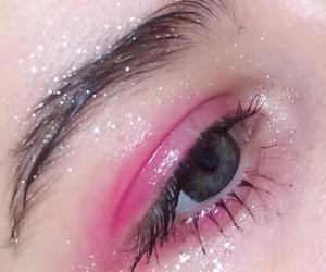 pink, eye, and makeup image