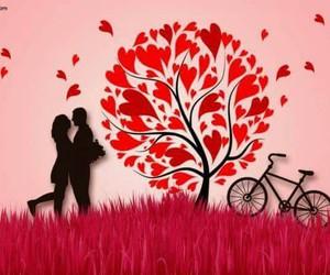 bicycle, feel, and boyandgirl image