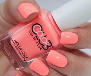 manicure, nails, and peach image