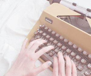 typewriter, vintage, and write image