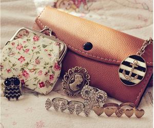 bag, rings, and vintage image