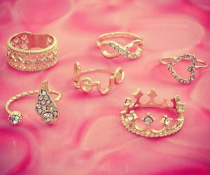rings, gold, and heart image