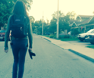 backpack, tired, and walk image