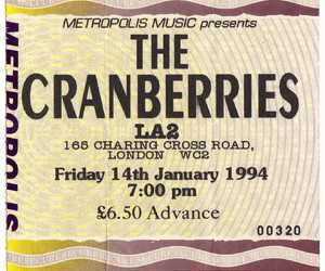 london, the cranberries, and ticket image