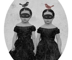 art, birds, and black image