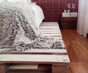 bedroom, decor, and palle bed image