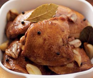 Chicken, filipino food, and adobo image
