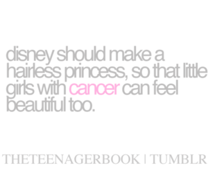 quote, cancer, and disney image