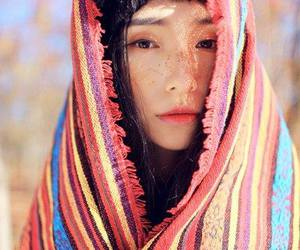 girl, beautiful, and asian image