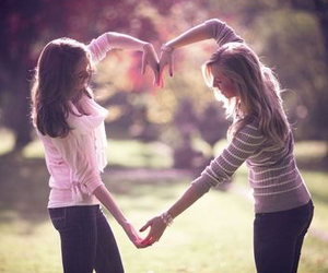 heart, friends, and best friends image