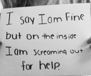 help, fine, and depression image