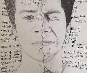 teen wolf, drawing, and wake up image