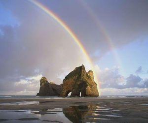 new zealand, photography, and rainbow image