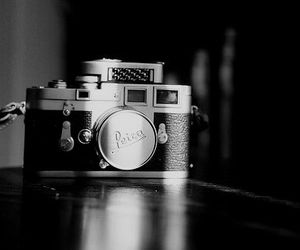 black and white, camera, and photography image