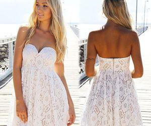 class, summer fashion, and lace mini dress image