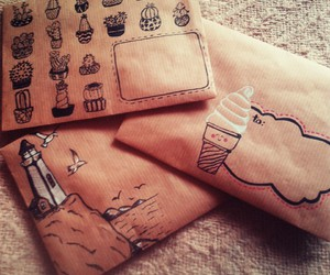 cactus, envelopes, and cactuses image