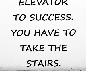 elevator, stairs, and success image