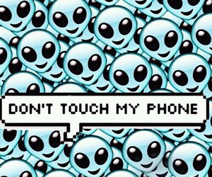wallpaper, alien, and phone image