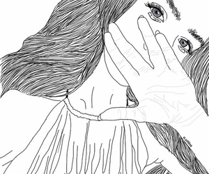 girl, grunge, and outline image
