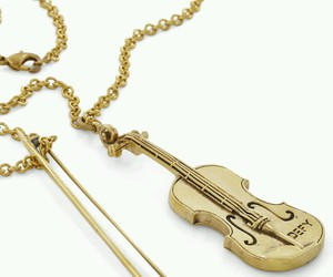 gold, violin, and cute image