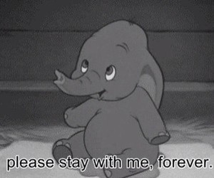 black and white, dumbo, and please image