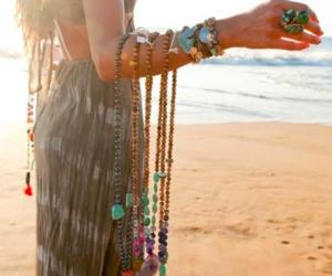 girl, beach, and boho image