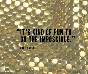 quote, impossible, and walt disney image