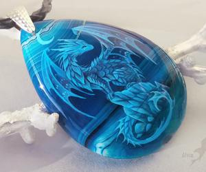 dragon and necklace image
