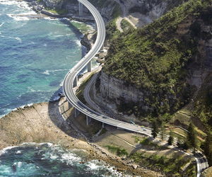 ocean, road, and sea image