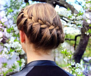blonde, braid, and braids image