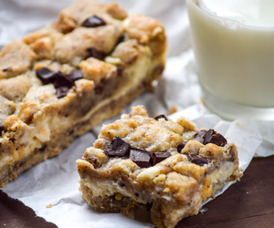 bars, chocolate chip, and cheesecake image