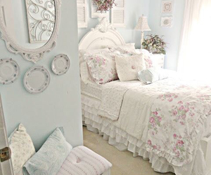 bedroom, room, and shabby chic image