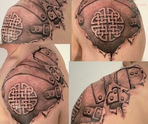 armor, celtic, and tattoo image
