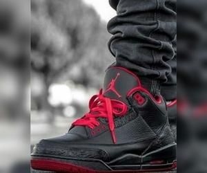 black, jordan, and red image