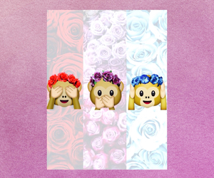 flowers, monkeys, and wallpapers image