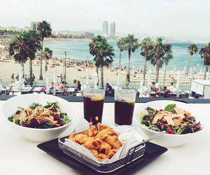 Barcelona, lunch, and spain image