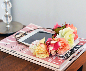 flowers, vogue, and magazine image