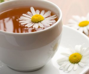 chamomile, daisy, and tea cup image