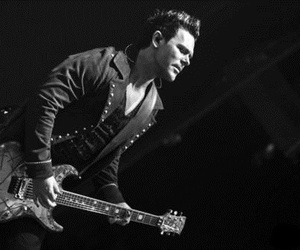 black and white, guitar, and rammstein image